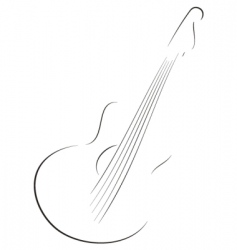 guitar sketch vector image