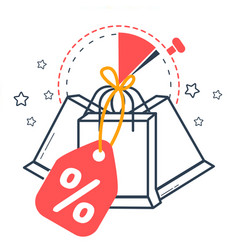 icon sale with packages vector image
