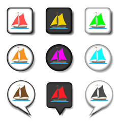 icons logo from set symbols for sea vector image