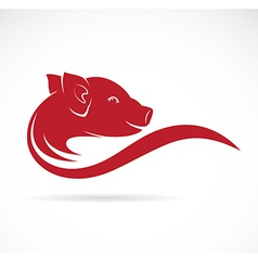 image of an pig vector image