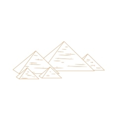 Isolated pyramids repeated vector