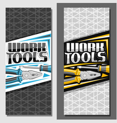 layouts for work tools vector image