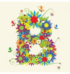 Letter B floral design vector