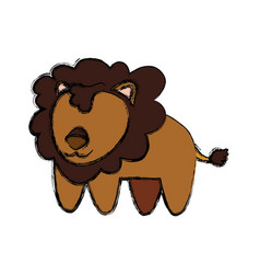 Lion infantile cartoon animal faceless vector