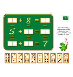 Mathematical logic puzzle game solve examples vector