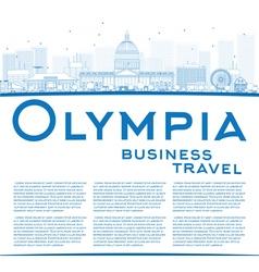 Outline Olympia Washington Skyline vector