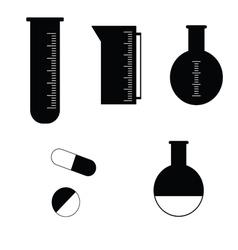 Pharmacy tubes icon vector