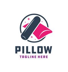 Pillow and bolster modern logo vector