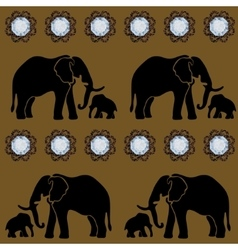 Seamless Gems Elephant Template vector