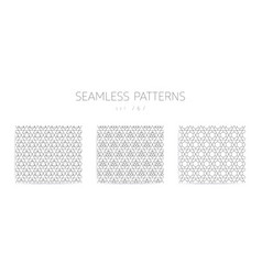 seamless geometric patterns collection with vector image