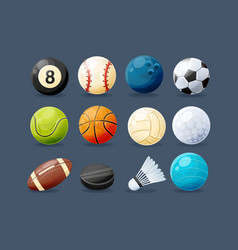 set of modern sports equipment vector image