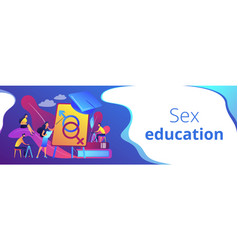 sexual education concept banner header vector image