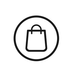 shopping bag icon on a white background vector image