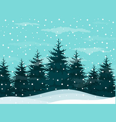snow in woods vector image
