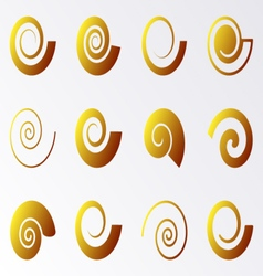 Spiral icons vector image