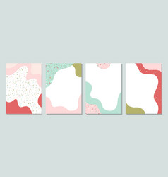 spring colorful templates with liquid shapes and vector image