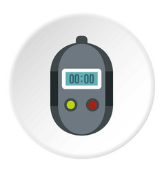 stopwatch icon circle vector image