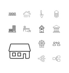 Structure icons vector
