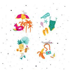 summer compositions vivid vector image