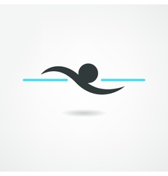 swimmer icon vector image
