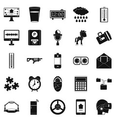 Technical specialist icons set simple style vector