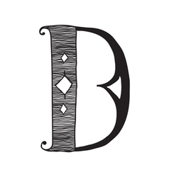 The vintage style letter d vector