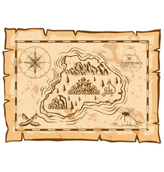 Treasure map of dead island vector