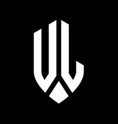 ul logo monogram with emblem shield style design vector image