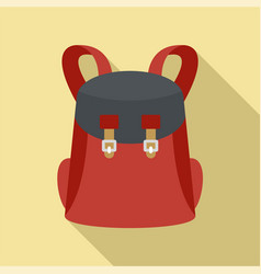 Universal backpack icon flat style vector