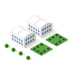 urban industrial isometric 3d architectural flat vector image