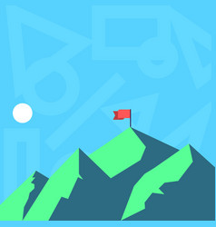 View mountain and hills with shadow indicating vector