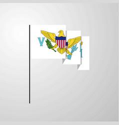 Virgin islands us waving flag creative background vector