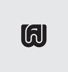 W and a - initials or logo wa - monogram logotype vector