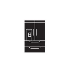 wardrobe closet black concept icon vector image