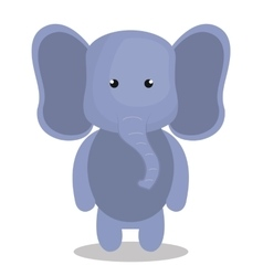 cute elephant isolated icon design vector image