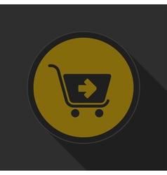 Dark gray and yellow icon - shopping cart next vector