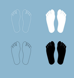 footprint heel the black and white color icon vector image