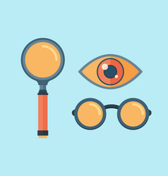 magnifying glass exploration scientific vector image