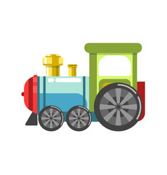 small plastic steam train with colorful parts vector image