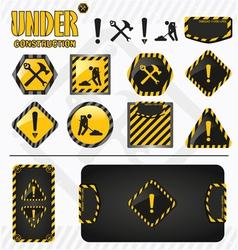 Under construction set vector image