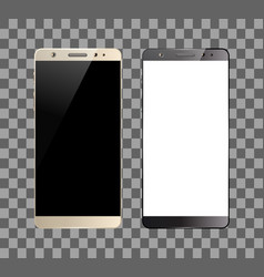 white and black smartphones vector image vector image