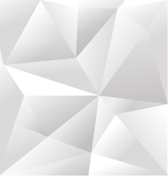 Abstract White Triangle Background vector image