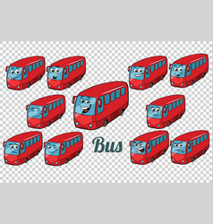 bus autobus collection set neutral background vector image vector image