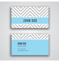 Business Card Template Chevron vector image vector image