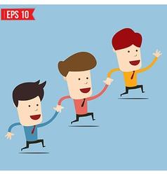Businessman run together - - EPS10 vector image