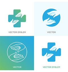 Charity concepts and volunteer organizations vector image