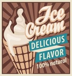 ice cream in retro style vector image vector image