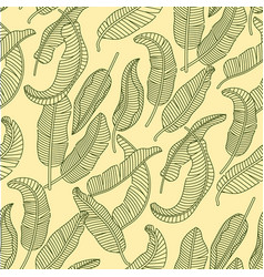 seamless pattern with tropical banana vector image vector image