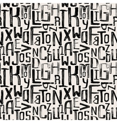 Seamless vintage style pattern grunge letters vector image vector image