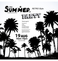 Vintage summer banners with palm trees vector image vector image